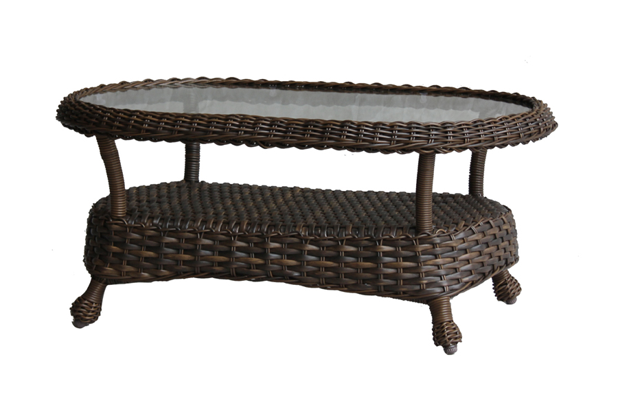 "Rio 26"" x 46"" Oval Coffee Table"