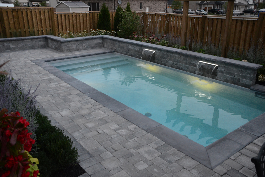 The bobinskis inground pool boldt pools and spas for Pool design polen