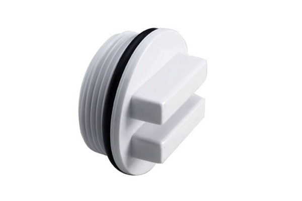 ABS Threaded Plug White