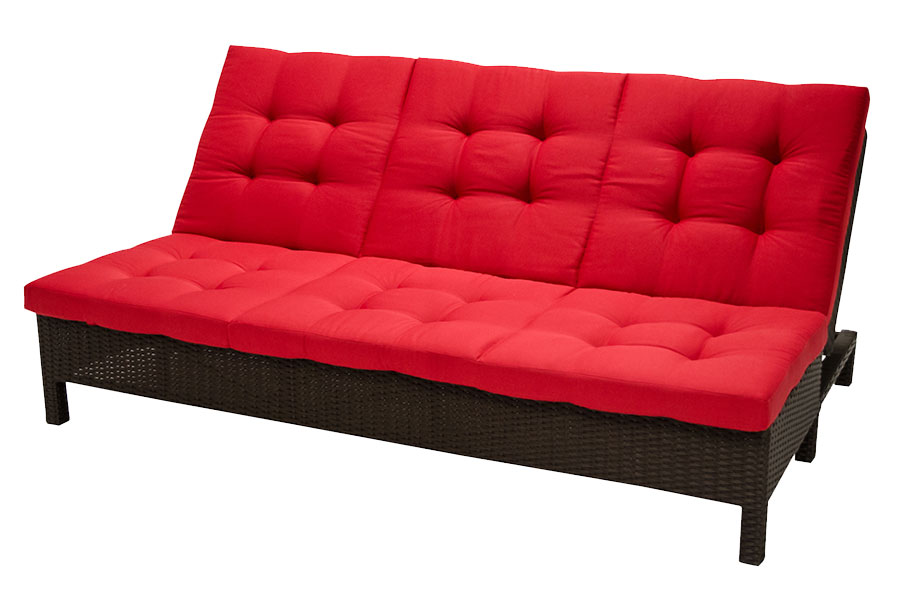 Fidji Sofa Chaise Lounge/Daybed – Red