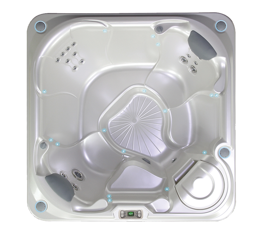 Hot Spring limelight 2015 Bolt hot tub overhead view