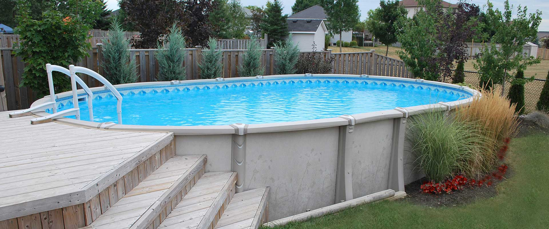 Above ground pools resin steel boldt pools spas - How to build an above ground swimming pool ...