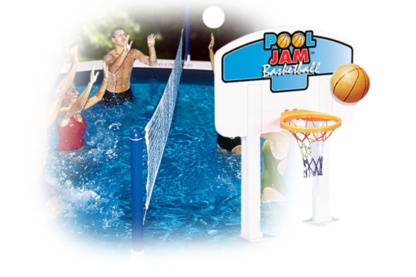 Above Ground Pool Jam Combo Volleyball and Basketball 9191