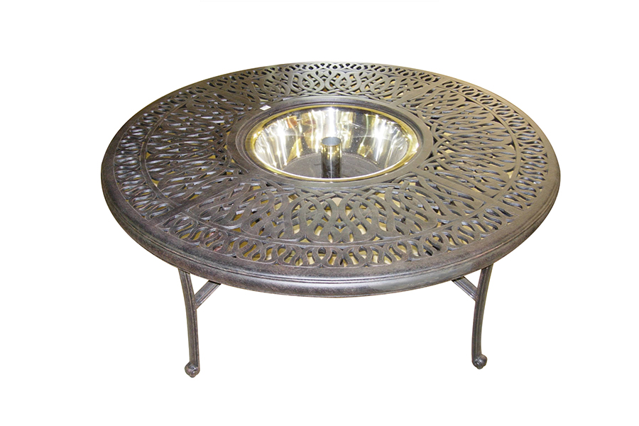 "Elizabeth 52"" Round Conversation Table with Ice Bucket"