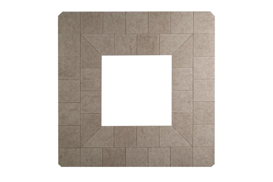 "Regent 54"" Square Slate Fire Pit Top BCF54SLATE"