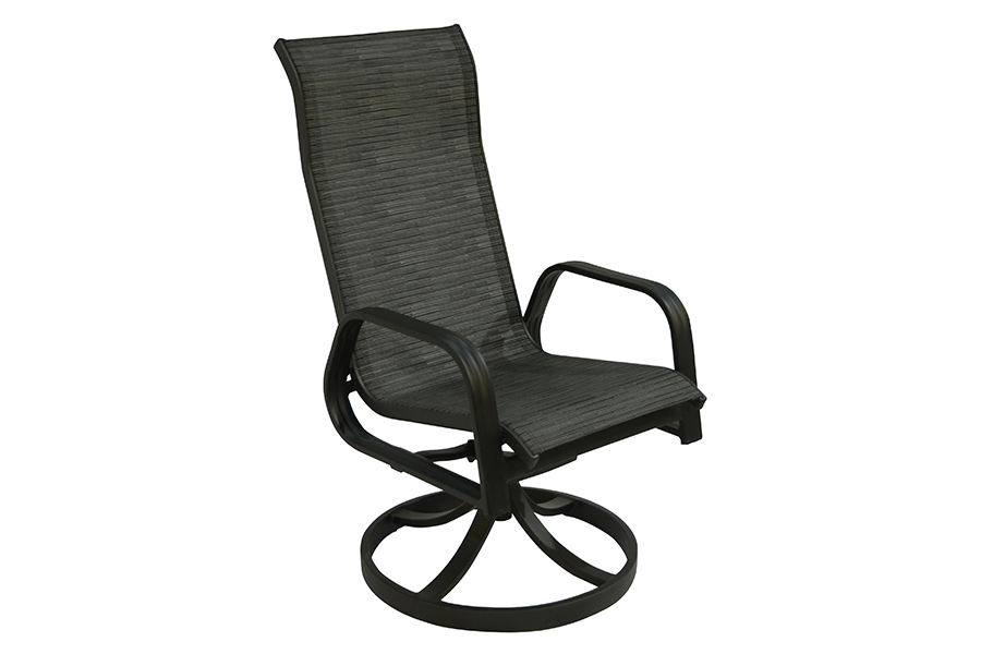 San Andres Sling Swivel Dining Chair