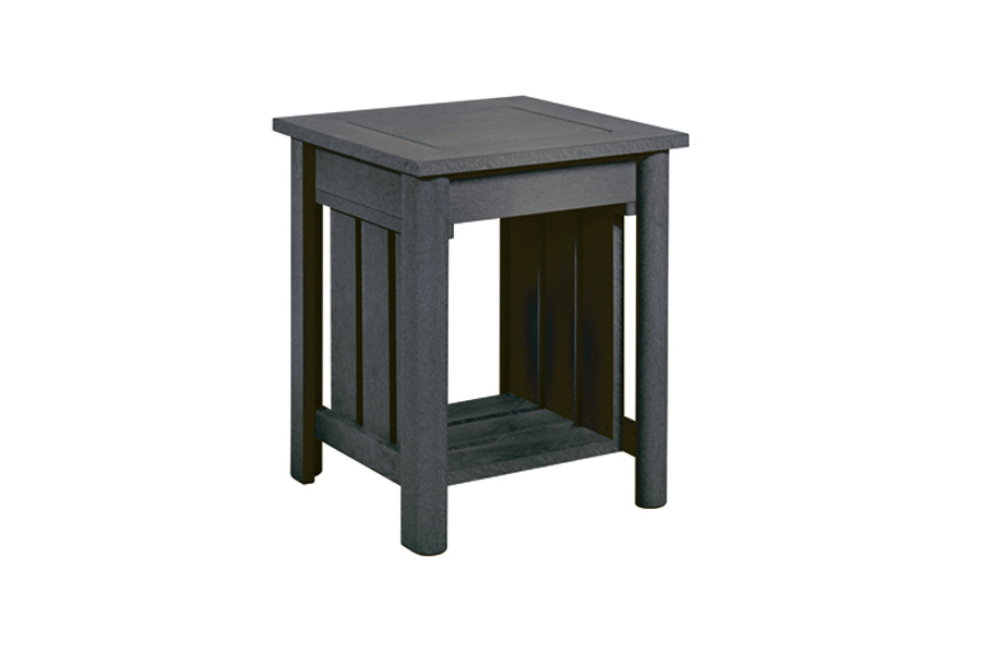 19″ Square End Table Slate Grey