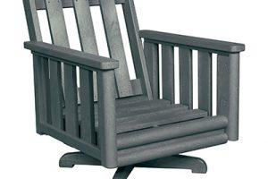 Swivel Lounge Chair Frame Slate Grey