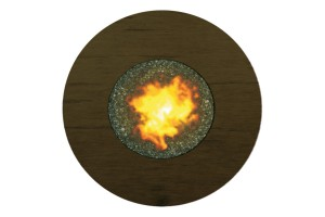 Tahoe Round Brown Fire Pit GRCF48