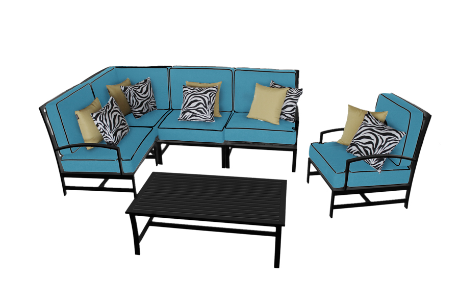 Urbania Sectional Sofa, Club Lounge Chair, and Coffee Table