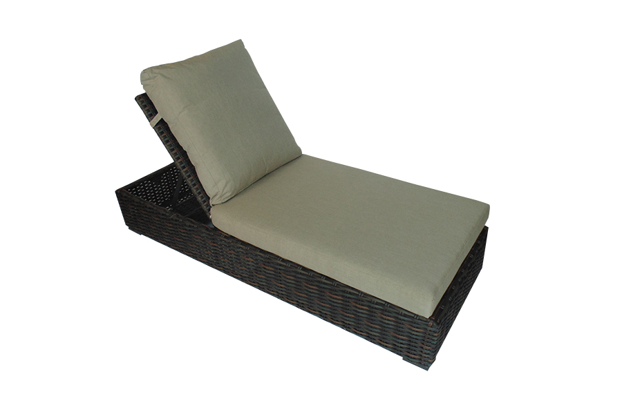West Lake Brown Chaise Lounge