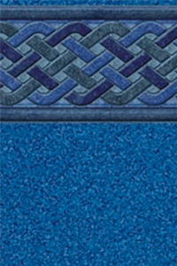 Latham Diamond Bordered Liner Bali With Blue Granite