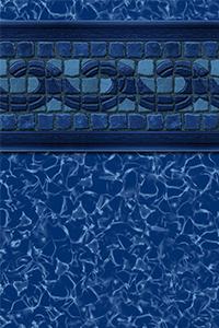 GLI Diamond Bordered Liner Fallon With Blue Aurora