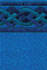 Latham Above Ground Bordered Liner Indigo Marble With Blue Granite