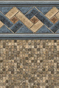 Latham Above Ground Custom Beaded Liner Mountain Top Tan Mosaic