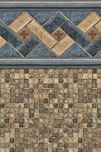 Latham Above Ground Custom Beaded Liner Mountain Top Tan Mosaic