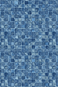 Latham Diamond Full Pattern Blue Mosaic