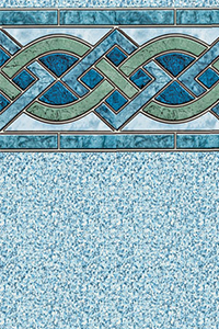 Latham Diamond Bordered Liner Marble Inlay With Crystal