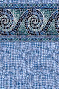 Latham Diamond Bordered Liner Terrazzo with Coral