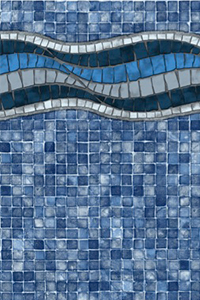Latham Platinum Bordered Liner Inglewood with Blue Mosaic