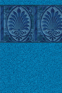 Latham Platinum Bordered Liner Isabella with Blue Granite