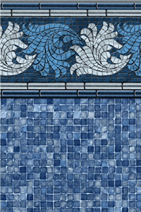 Latham Platinum Bordered Liner Riviera with Blue Mosaic