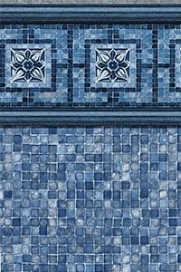 Latham Diamond Bordered Liner Vintage Mosaic with Blue Mosaic