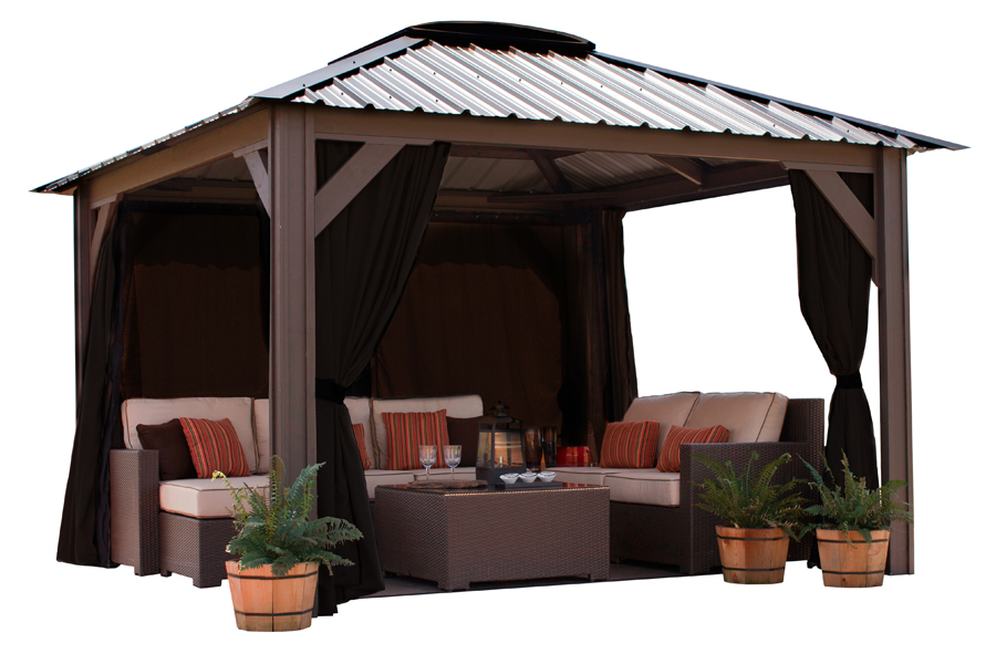 Visscher Milano Gazebo Front View