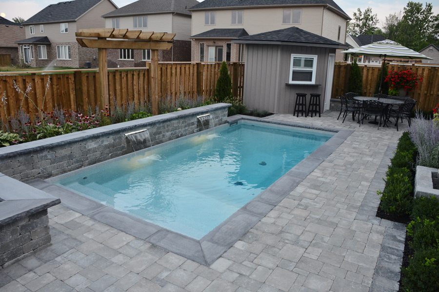 The bobinskis inground pool boldt pools and spa for 12x24 pool design