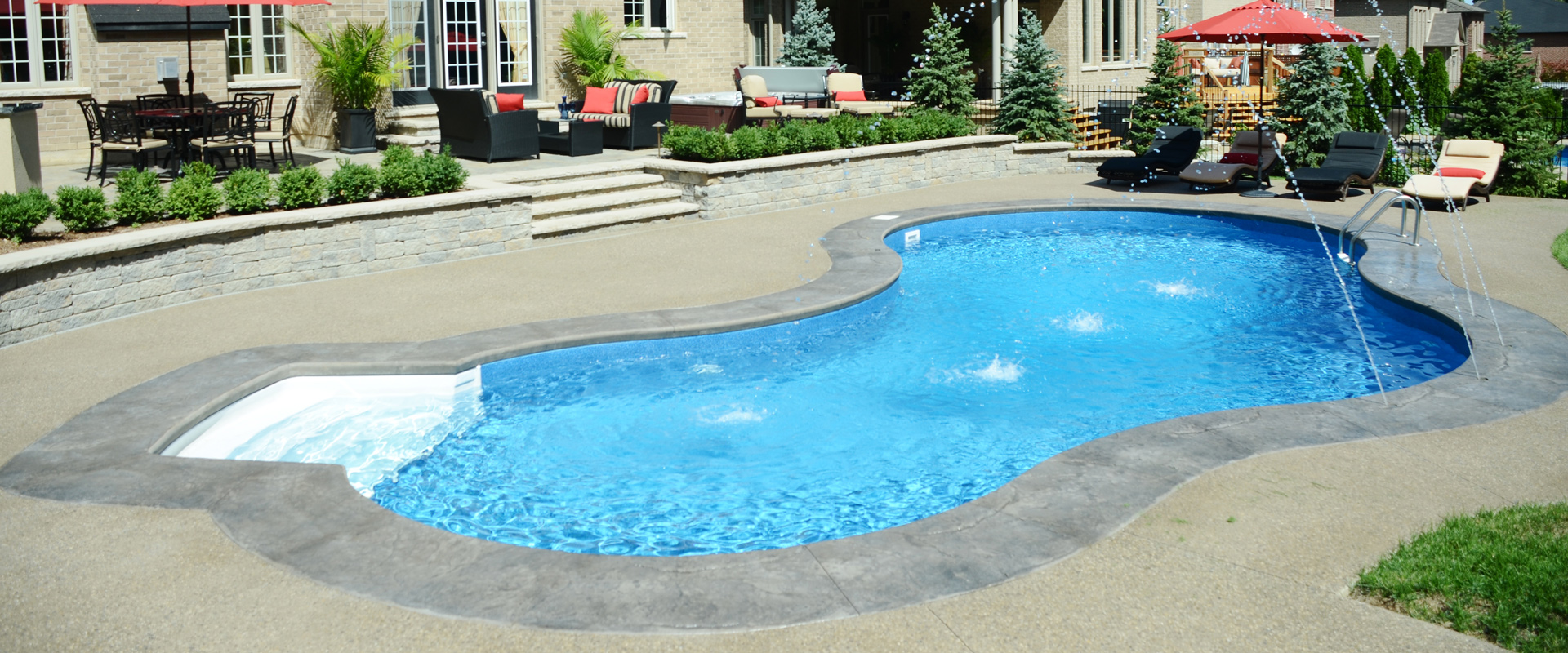 The Stevens Inground Pool Boldt Pools And Spa
