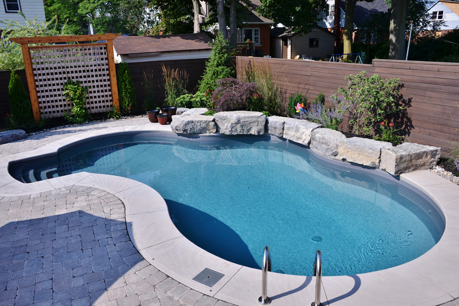 The cushings inground pool boldt pools spas - How to put hot water in a swimming pool ...