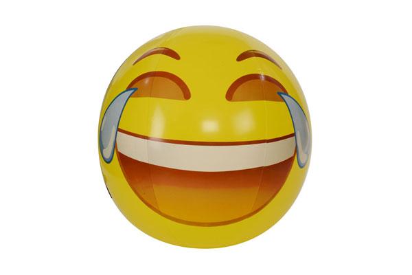 "56"" emoji beach ball tears of joy"