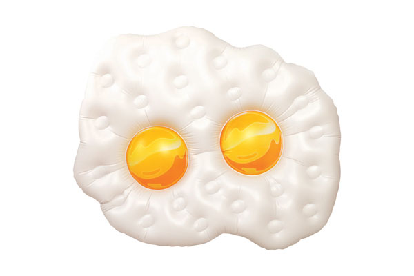 inflatable giant fried eggs float