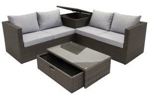 San Marco Wicker Sectional with Storage