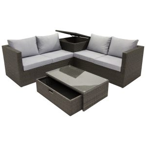 Four Piece Sectional with Storage