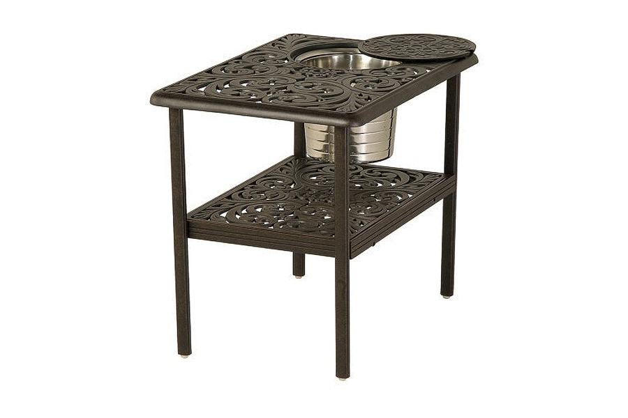 Rectangular 28″ x 20″ Ice Bucket Table
