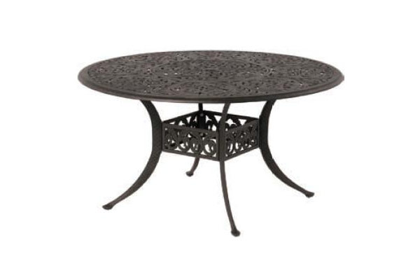 54″ Inlaid Lazy Susan Table
