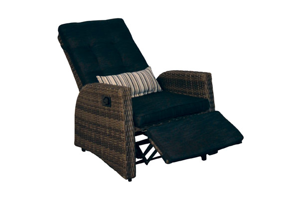 Reclining Club Chair with Ottoman