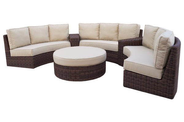 Five Piece Crescent Sectional