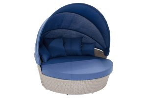 Blue Grey Moon Bed With Canopy