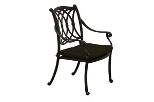 Paris Dining Chair black with seat pad