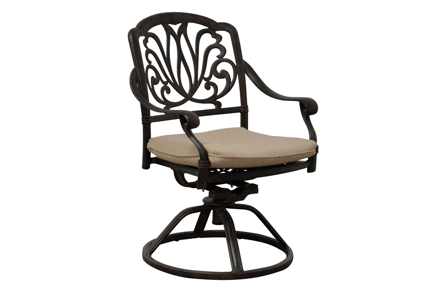 Outdoor Cast Aluminum Swivel Dining Chair