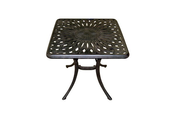 "21"" Square Side Table Black"