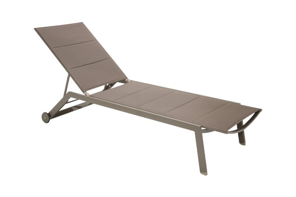 Sling Adjustable Padded Chaise Lounge