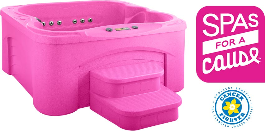 Spas for a Cause Pink Hot Tub