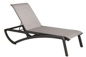 Sunset Chaise Lounge - Volcanic Black