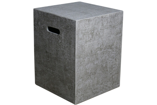 Propane Cover 16″ Square Rough Cast Concrete