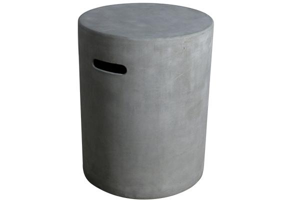 Propane Cover 16″ Round Smooth Cast Concrete