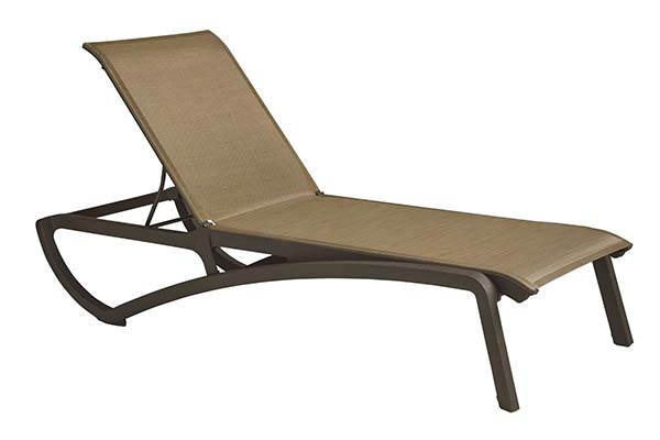 Sunset Chaise Lounge - Cognac