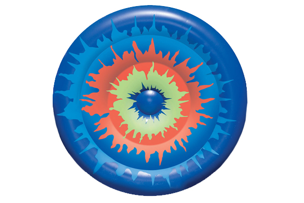Tie Dye Island Pool Float